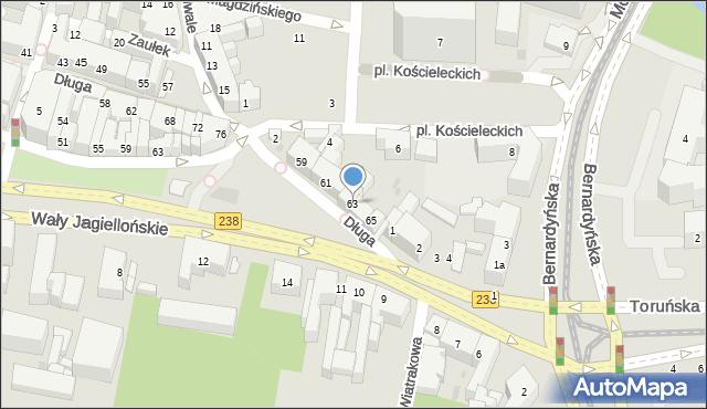 Bydgoszcz, Długa, 63, mapa Bydgoszczy