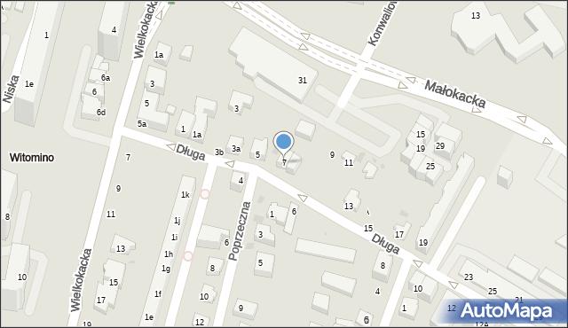 Gdynia, Długa, 7, mapa Gdyni