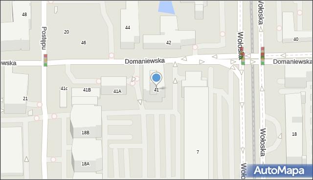 Warszawa, Domaniewska, 41, mapa Warszawy