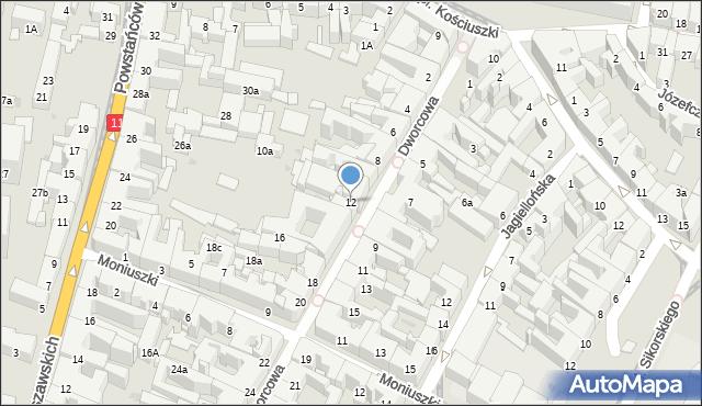 Bytom, Dworcowa, 12, mapa Bytomia