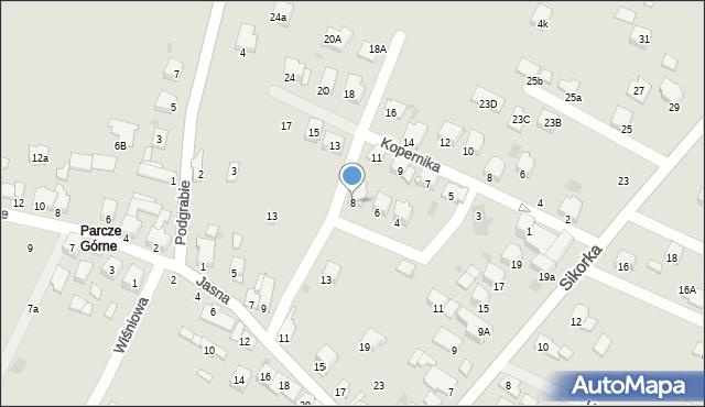 Olkusz, Dygasińskiego Adolfa, 8, mapa Olkusz