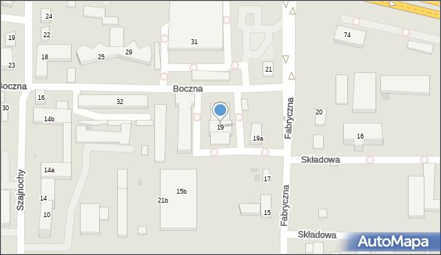 Bydgoszcz, Fabryczna, 19, mapa Bydgoszczy