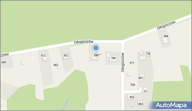 Głogoczów, Głogoczów, 936, mapa Głogoczów