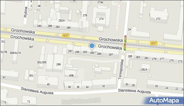 Warszawa, Grochowska, 291, mapa Warszawy