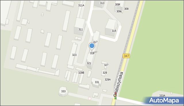 Wrocław, Grabiszyńska, 319, mapa Wrocławia