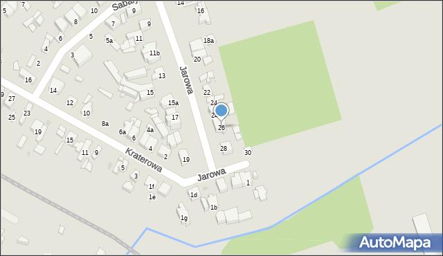 Łódź, Jarowa, 26, mapa Łodzi