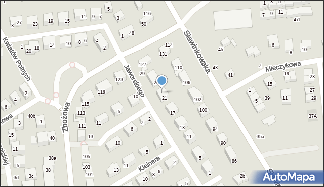 Lublin, Jaworskiego Kazimierza Andrzeja, 23, mapa Lublina