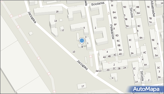 Piaseczno, Jarząbka Kazimierza, 8, mapa Piaseczno