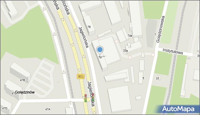 Warszawa, Jagiellońska, 74, mapa Warszawy