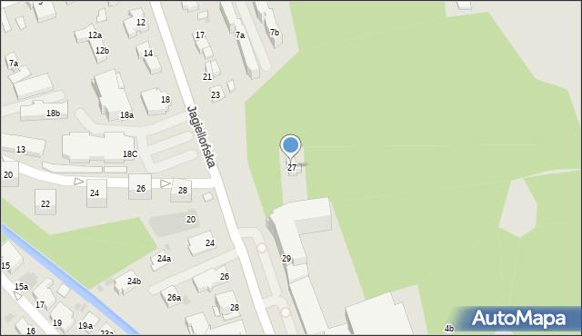 Zakopane, Jagiellońska, 27, mapa Zakopanego
