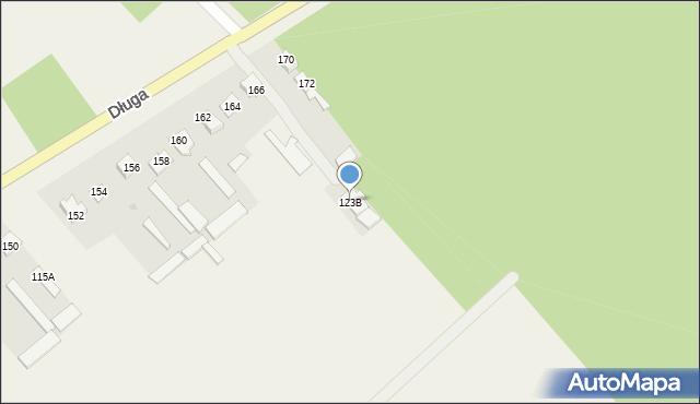 Jeziorko, Jeziorko, 123B, mapa Jeziorko