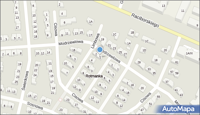 Rotmanka, Jodłowa, 1, mapa Rotmanka