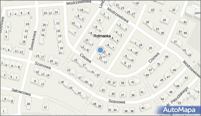 Rotmanka, Jodłowa, 12, mapa Rotmanka