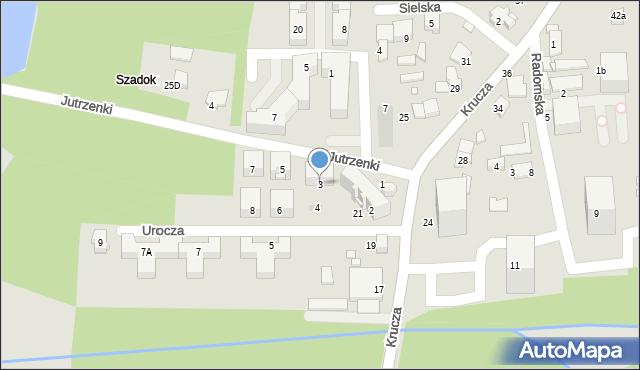 Katowice, Jutrzenki, 3, mapa Katowic