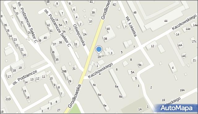 Nysa, Kaczkowskiego Zygmunta, 1A, mapa Nysy
