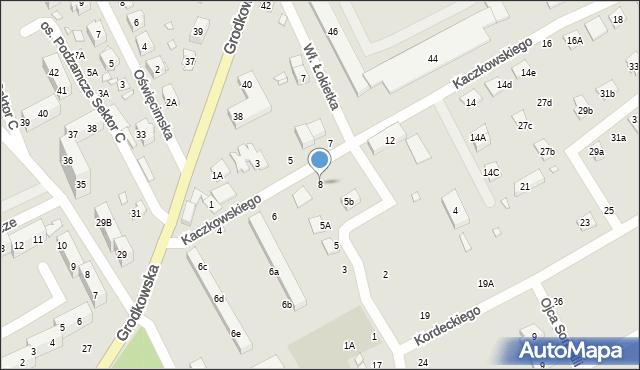 Nysa, Kaczkowskiego Zygmunta, 8, mapa Nysy