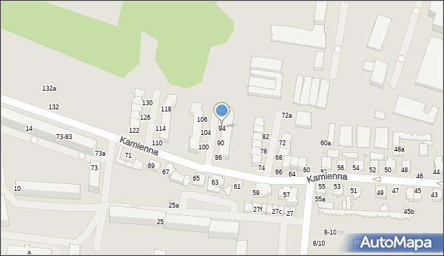 Zgierz, Kamienna, 94, mapa Zgierz