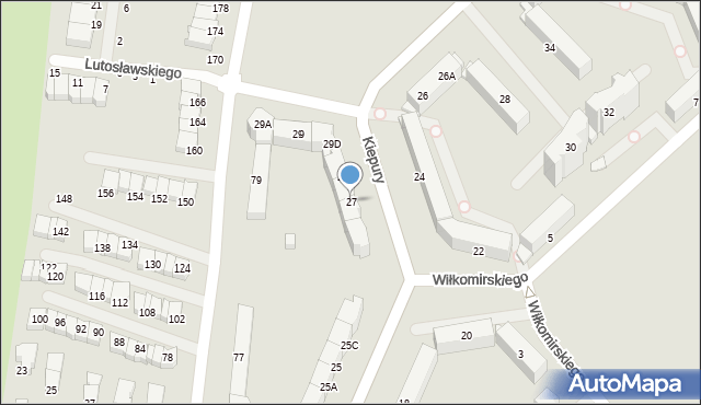 Jelenia Góra, Kiepury Jana, 27, mapa Jelenia Góra