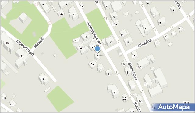 Kudowa-Zdrój, Kombatantów, 6, mapa Kudowa-Zdrój