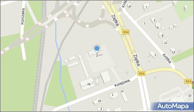 Mysłowice, Kolejowa, 2, mapa Mysłowice