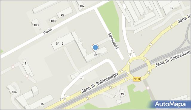 Dąbrowa Górnicza, Króla Jana III Sobieskiego, 12, mapa Dąbrowa Górnicza
