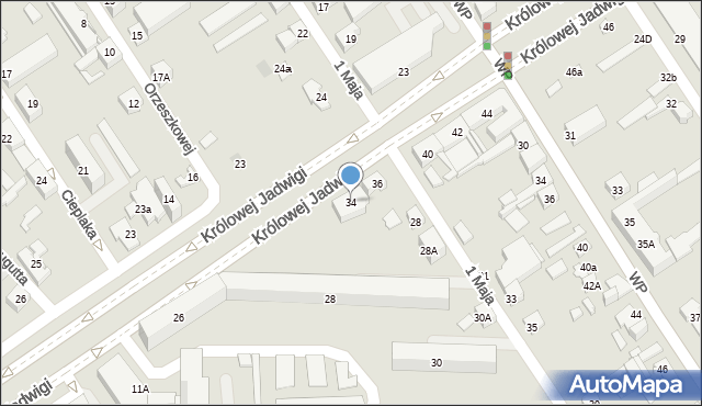 Dąbrowa Górnicza, Królowej Jadwigi, 34, mapa Dąbrowa Górnicza