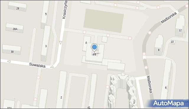 Warszawa, Krasiczyńska, 4/6, mapa Warszawy