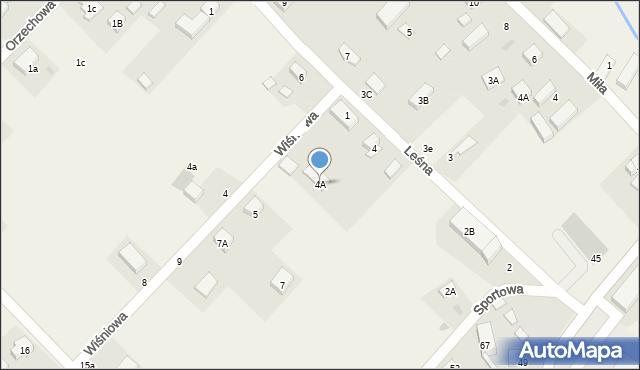 Siedlec, Leśna, 4A, mapa Siedlec