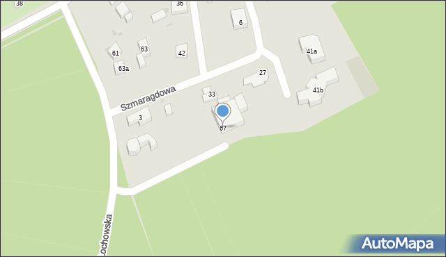 Bydgoszcz, Łochowska, 67, mapa Bydgoszczy