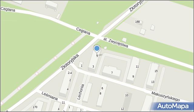 Legnica, Makuszyńskiego Kornela, 5, mapa Legnicy