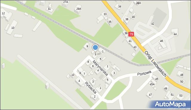 Sosnowiec, Marynarska, 7, mapa Sosnowca