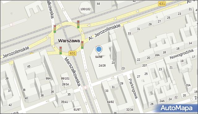 Warszawa, Marszałkowska, 94/98, mapa Warszawy