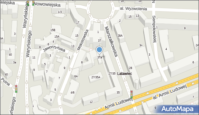 Warszawa, Marszałkowska, 37a, mapa Warszawy