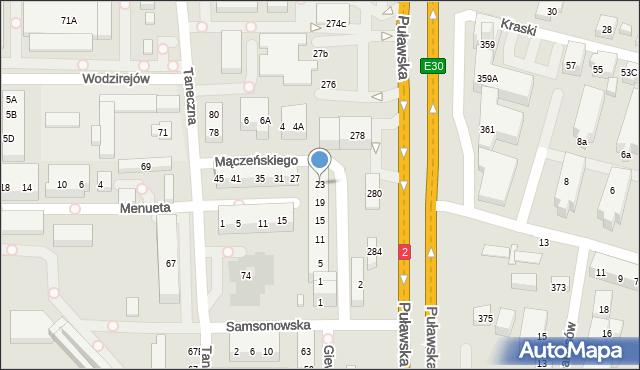 Warszawa, Mączeńskiego Zdzisława, 23, mapa Warszawy