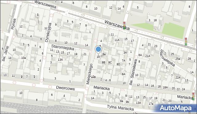 Katowice, Mielęckiego Andrzeja, 10, mapa Katowic