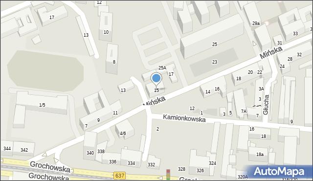 Warszawa, Mińska, 15, mapa Warszawy