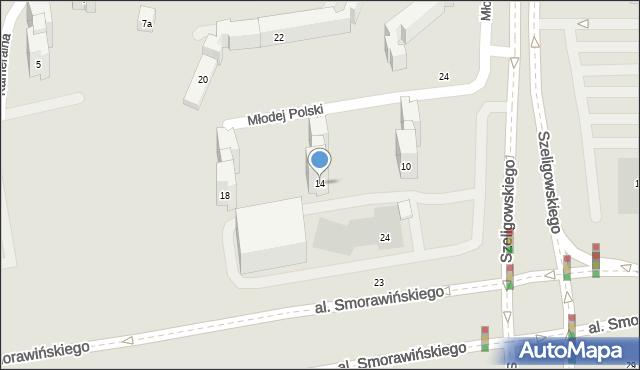 Lublin, Młodej Polski, 14, mapa Lublina