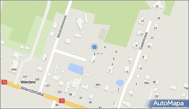 Aleksandrów Łódzki, Modrzewiowa, 5, mapa Aleksandrów Łódzki