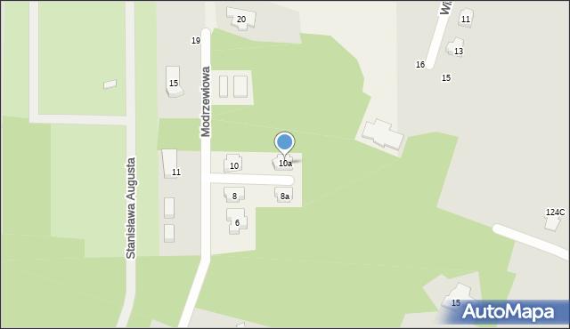 Ruda-Bugaj, Modrzewiowa, 10a, mapa Ruda-Bugaj