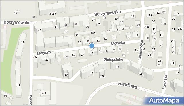 Warszawa, Motycka, 15, mapa Warszawy