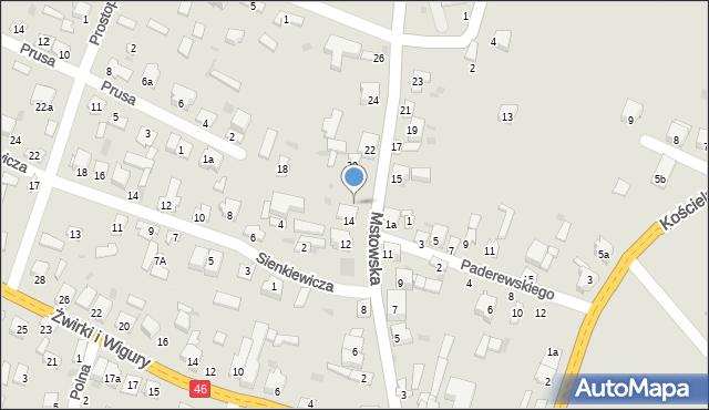 Olsztyn, Mstowska, 16, mapa Olsztyna