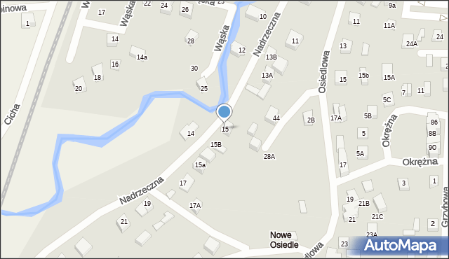 Gościcino, Nadrzeczna, 15, mapa Gościcino