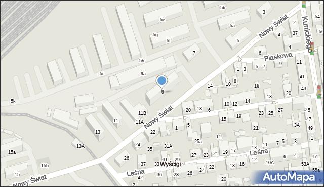 Lublin, Nowy Świat, 9, mapa Lublina
