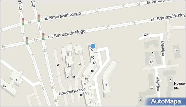 Lublin, Nowowiejskiego Feliksa, 6h, mapa Lublina