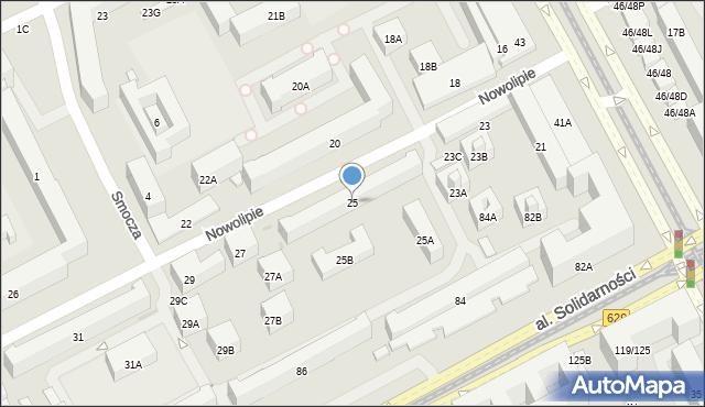 Warszawa, Nowolipie, 25, mapa Warszawy