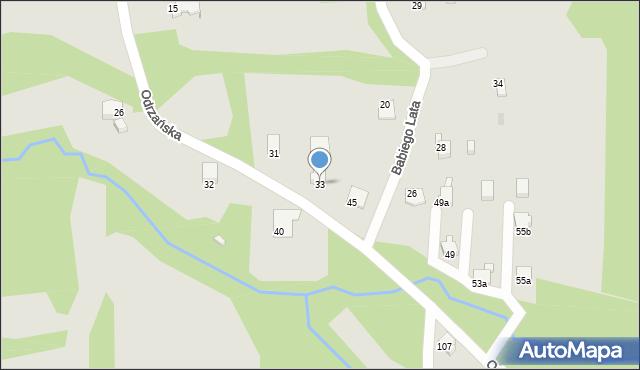 Bielsko-Biała, Odrzańska, 33, mapa Bielsko-Białej