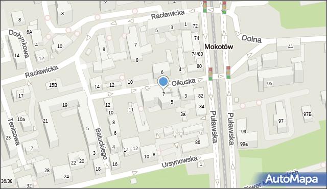 Warszawa, Olkuska, 7, mapa Warszawy