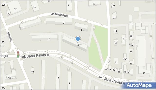 Ostrowiec Świętokrzyski, Osiedle Pułanki, 4, mapa Ostrowiec Świętokrzyski