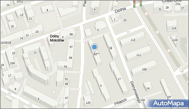 Warszawa, Piaseczyńska, 122, mapa Warszawy