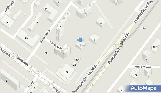 Warszawa, Pirenejska, 4, mapa Warszawy